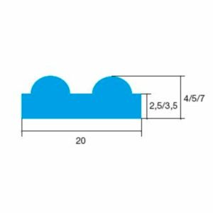 Набухающий профиль Hydrotite RSS round profile 140P
